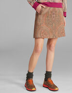 JACQUARD PAISLEY MINI SKIRT