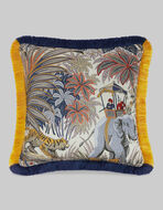 ORIENTAL PATTERN SATIN CUSHION