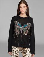蝶刺繍セーター