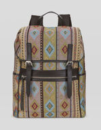 CARPET PRINT FABRIC BACKPACK