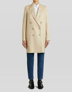 DOUBLE-BREASTED TAILORED COAT