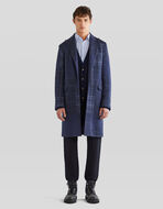 CHECK PATCHWORK WOOL OVERCOAT