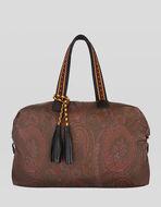 PAISLEY-PRINT BOSTON BAG