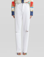DENIM JEANS WITH EMBROIDERED PEGASO