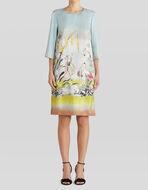 SILK TWILL HERON PRINT DRESS