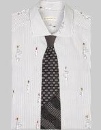 四面料领带