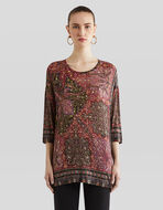 FLORAL PAISLEY PATTERN JUMPER