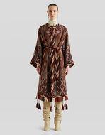 タッセル飾り ジャカード コート