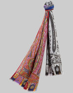 TWO-TONE PAISLEY SCARF