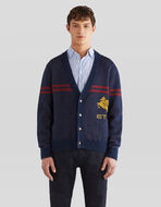 MOHAIR AND WOOL CARDIGAN WITH PEGASO
