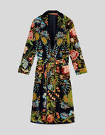 COAT WITH FLORAL MOTIFS