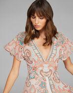 LONG PAISLEY DESIGN DRESS