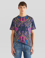 T-SHIRT WITH PAISLEY PRINT