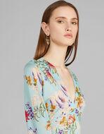 花卉印花针织连衣裙