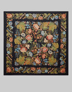 FLORAL CASHMERE AND SILK SHAWL