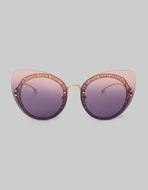 猫眼框架搭配PAISLEY图案太阳镜