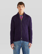 ZIPPED WOOL CARDIGAN