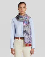 花卉印花羊毛及真丝围巾