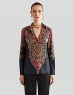COTTON SHIRT WITH PAISLEY DECORATIONS