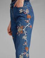 GEEKY刺绣牛仔靴裤