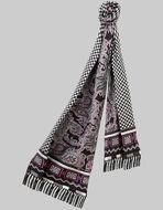 双层流苏丝质围巾