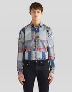 PATCHWORK PRINT COTTON SHIRT