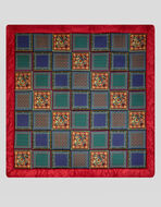 SILK TWILL QUILT WITH POCKET SQUARE PRINT