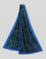 FLORAL PAISLEY SILK AND CASHMERE SCARF