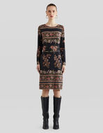 FLORAL PATTERN JERSEY DRESS