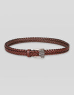 LEATHER BELT WITH WORKED BUCKLE