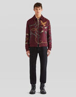 JACQUARD BOMBER JACKET WITH REGIMENTAL RIBBONS