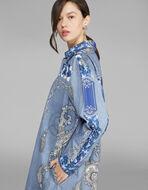 バンダナプリント シャツドレス