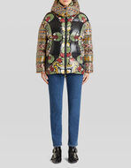 FLORAL AND GEOMETRIC PRINT DOWN JACKET
