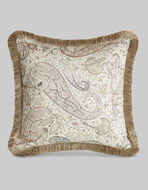 SATIN CUSHION WITH PAISLEY PRINT