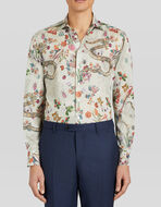 COTTON SHIRT WITH NATURE PRINT