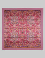 SCARF PRINT SILK QUILT WITH DOUBLE BORDER