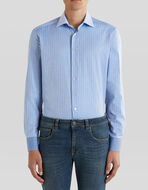 三色棉质衬衫