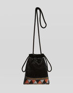 MINI BUCKET BAG WITH SEQUINS
