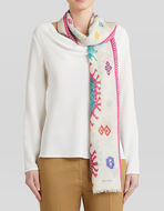 EMBROIDERY-EFFECT SCARF