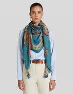 花卉印花羊绒围巾