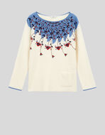 WOOL JUMPER WITH FLORAL EMBROIDERY