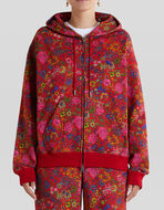 FLORAL PRINT COTTON SWEATSHIRT