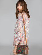 BAG WITH PAISLEY PRINT AND FLORAL EMBROIDERY