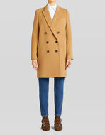 DOUBLE-BREASTED TAILORED WOOL COAT