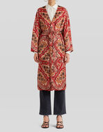 LIGHT JACQUARD PAISLEY POUCH PRINT COAT