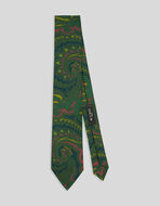 SILK TIE WITH PAISLEY DESIGNS