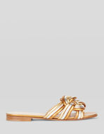 FLAT LEATHER WOVEN SANDALS