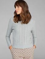 縄編みウールセーター