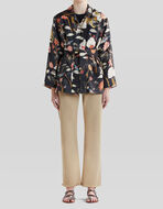KIMONO JACKET WITH WATER LILY AND TIGER PRINT