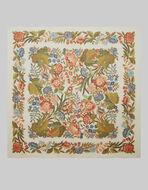 花卉图案羊绒真丝围巾